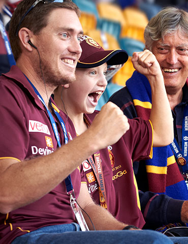 Gabba Members at AFL